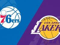 Los Angeles Lakers vs Philadelphia 76ers